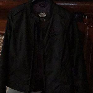 Harley Davidson black an purple jacket